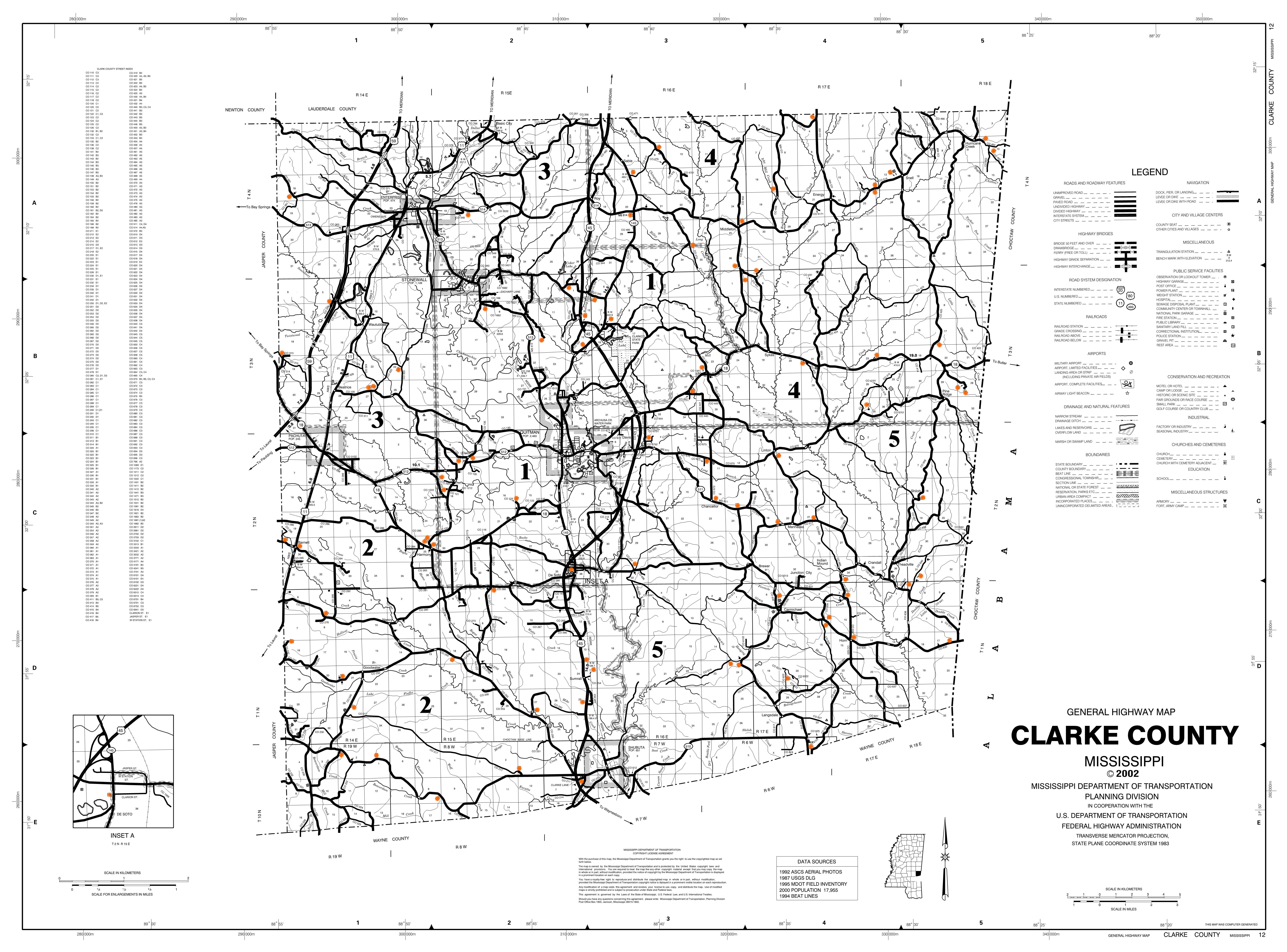 Mississippi george county - County Cemeteries Map