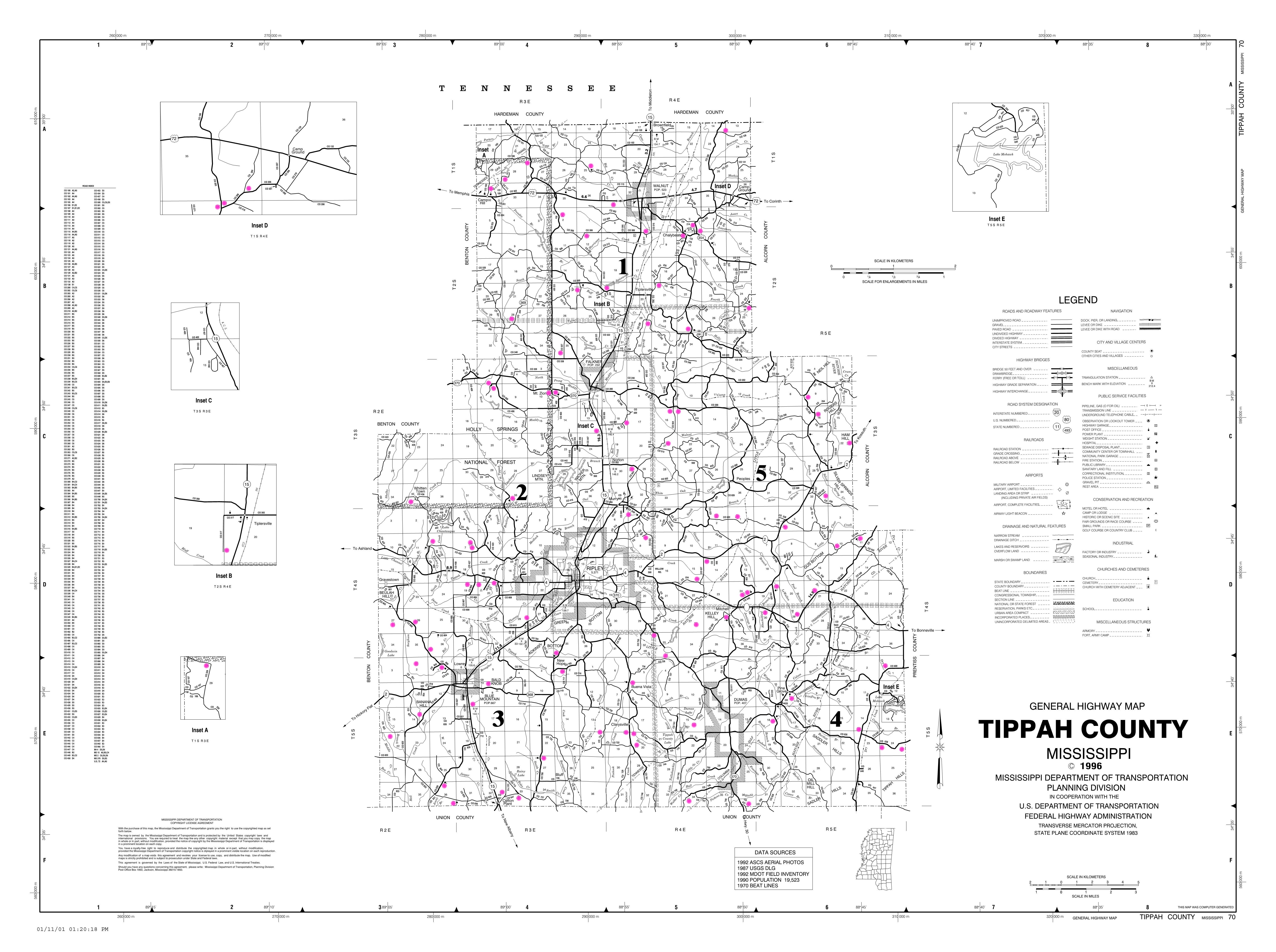 Tippah County Mississippi Genealogy MSGenweb - Counties in ms map