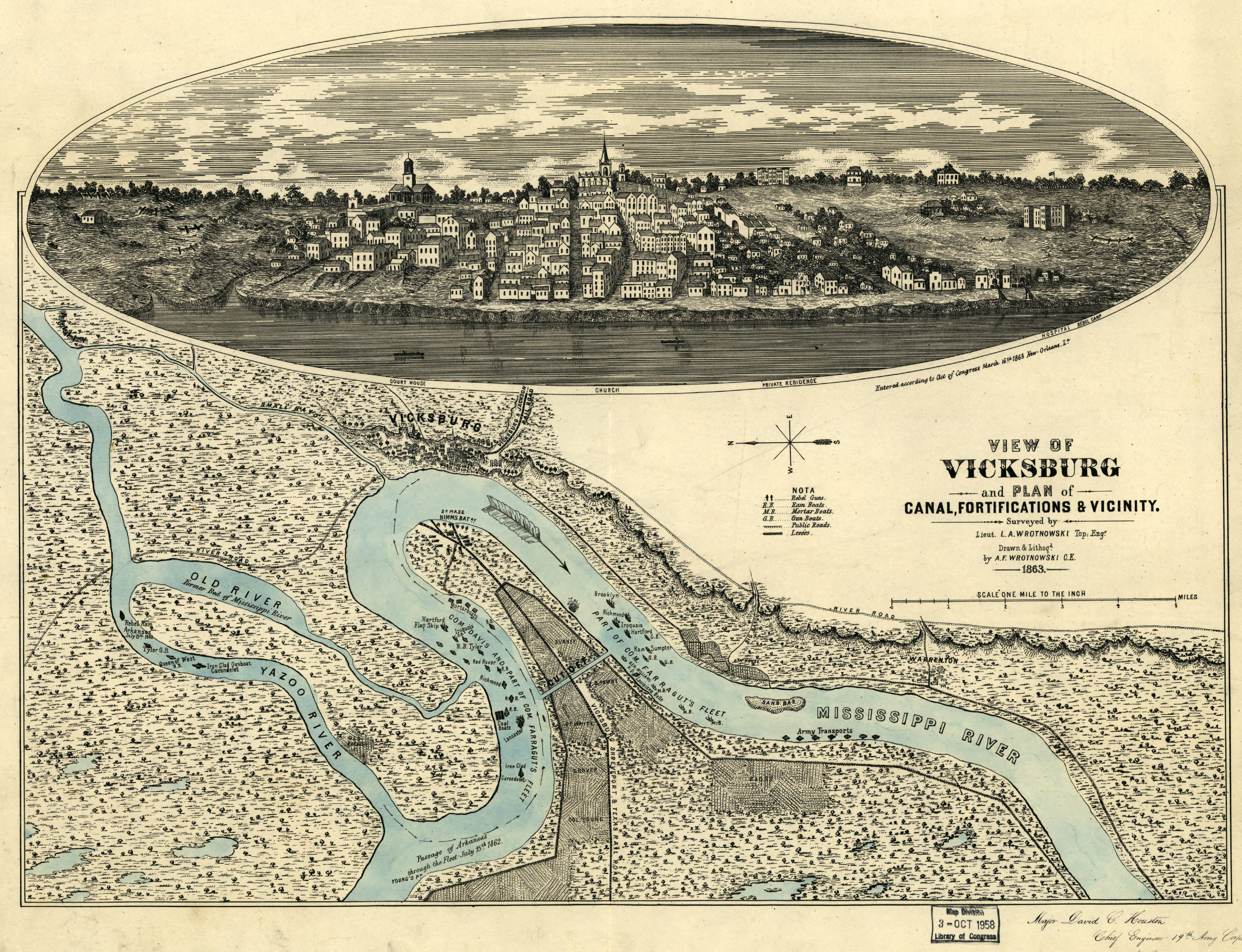 Vicksburg Civil War Map
